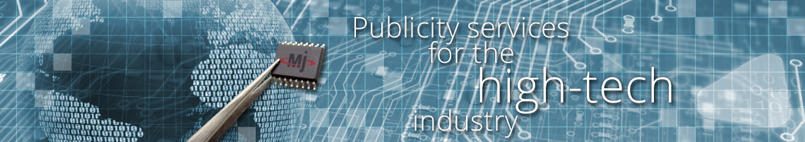Publicity services for the high-tech industry